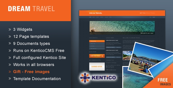 Dream Travel for Kentico CMS - Travel Retail