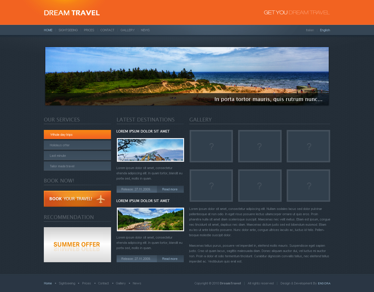 Dream Travel for Kentico CMS