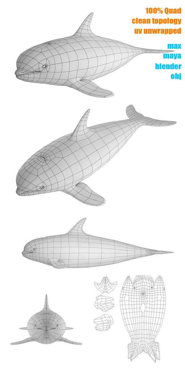 3DOcean Whale Base Mesh 3232094