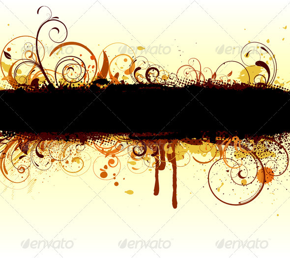 Floral Banner - Backgrounds Decorative