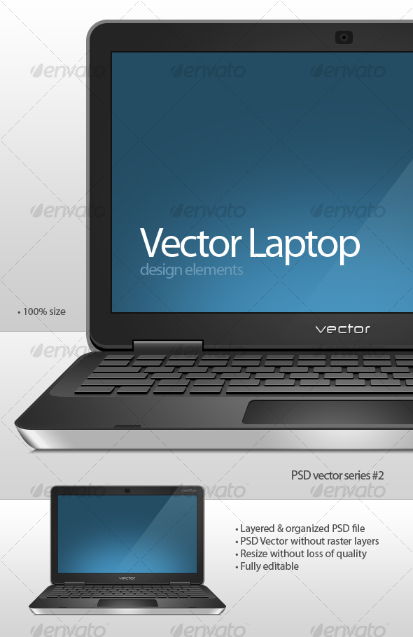 GraphicRiver Vector Laptop 113820