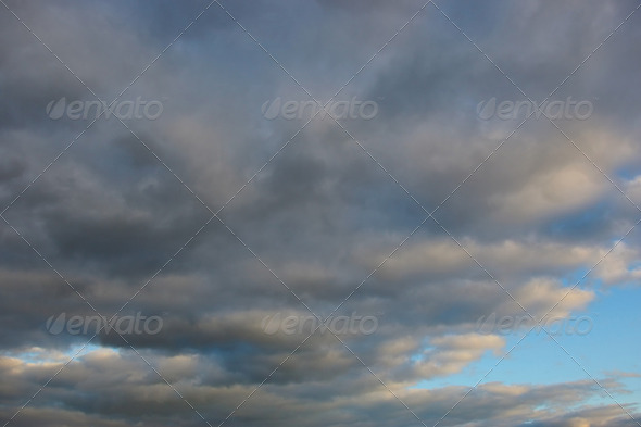 Beautiful cloudscape - Stock Photo - Images