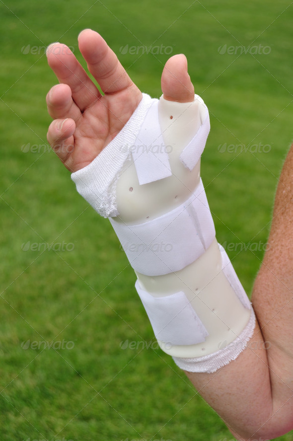 White Arm Brace - Stock Photo - Images