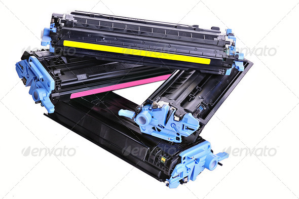 Stock Photo - PhotoDune Printer toner cartridges 2034685