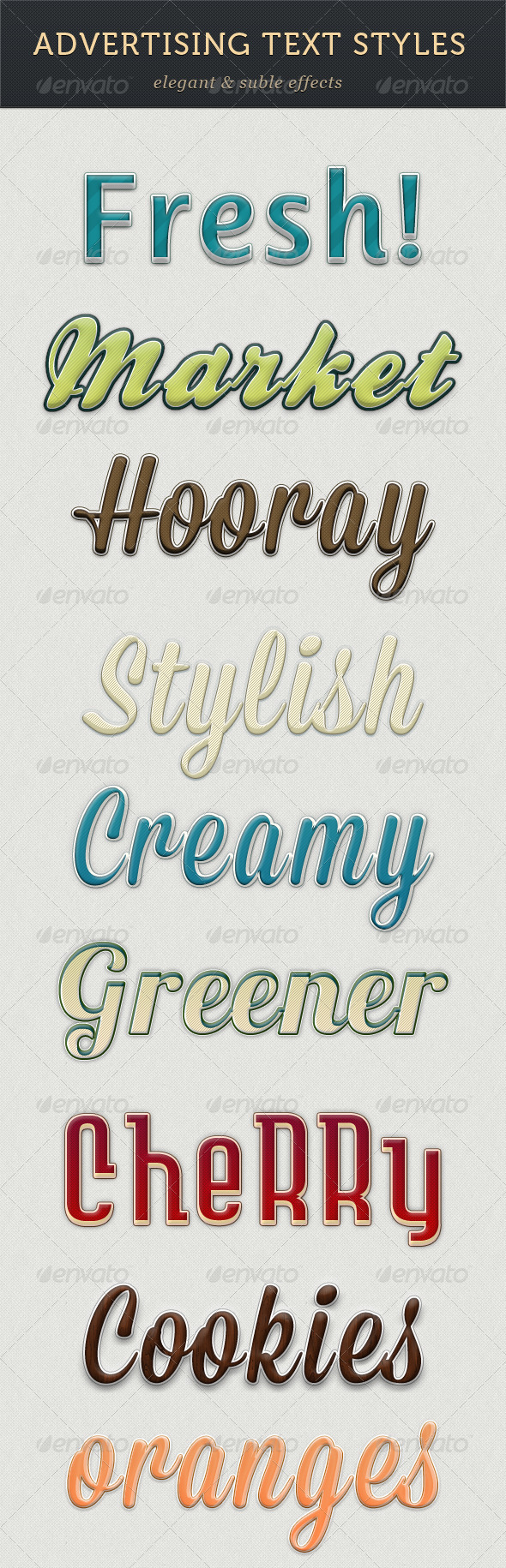 GraphicRiver Advertising Text Styles 3234325