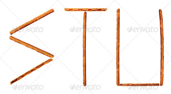 The alphabet from salty sticks - Stock Photo - Images