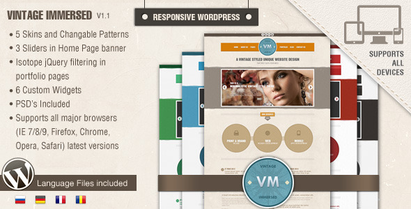 Vintage Immersed - Multipurpose WordPress Theme - Portfolio Creative