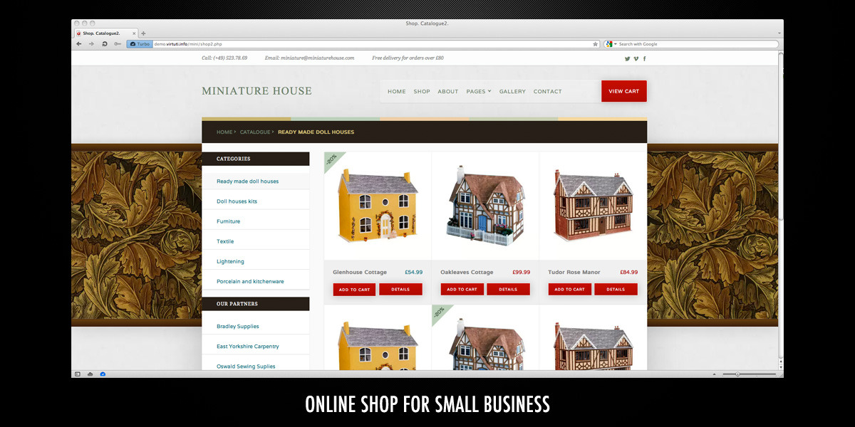 Miniature House–HTML Online Shop Template