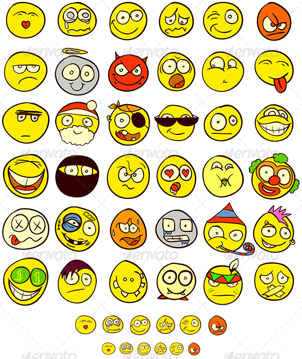 36 Smiley - People Characters