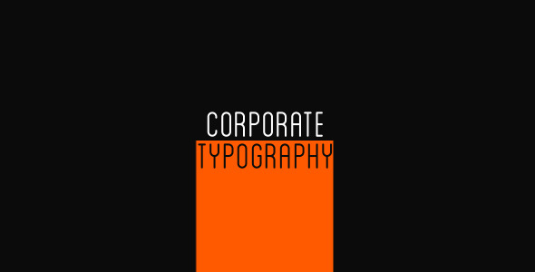 After Effects Project - VideoHive Corporate Typography 3234677
