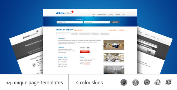 ThemeForest Doctor online HTML catalogue and database 113900