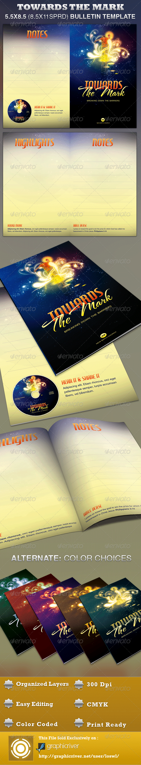 Towards the Mark Church Bulletin Template - Informational Brochures