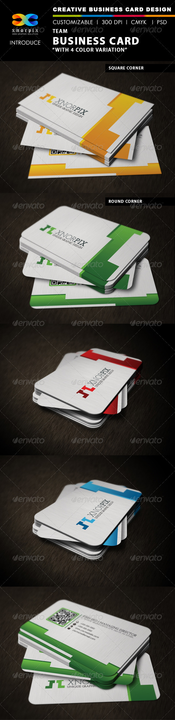 Team Business Card - Corporate Business Cards