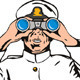 Navy Captain Sailor With Binoculars  - GraphicRiver Item for Sale