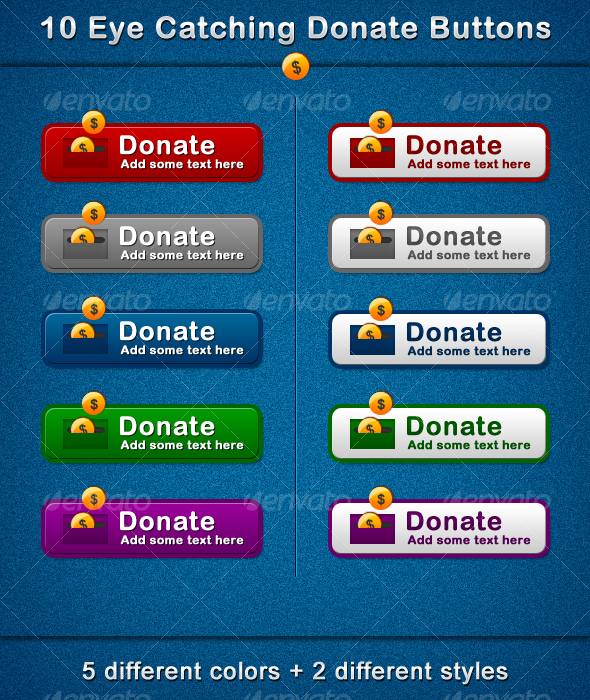 10 Eye Catching Donate Buttons - Buttons Web Elements