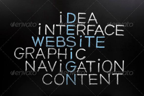 PhotoDune Website Design Crossword on Blackboard 3245629