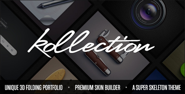 Kollection: 3D Folding Portfolio Theme
