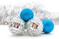 silver and blue Christmas decorations - PhotoDune Item for Sale