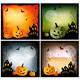 Four Halloween backgrounds - GraphicRiver Item for Sale