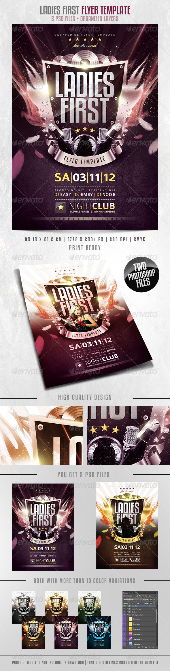 Ladies First Flyer Template  - Clubs & Parties Events