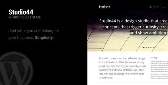 ThemeForest Studio44 WordPress Theme 3240792
