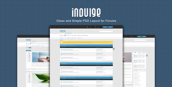 ThemeForest Indulge Clean PSD for Forums and Blogs 3237516