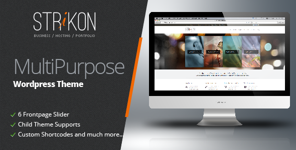 Strikon - Corporate, Hosting & Portfolio WP Theme - Business Corporate