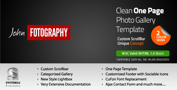 Fotography - One Page Clean PhotoGallery Template 