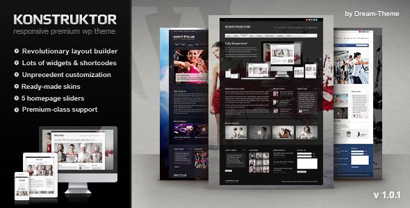 ThemeForest Konstruktor Responsive Corporate WordPress Theme 2785233