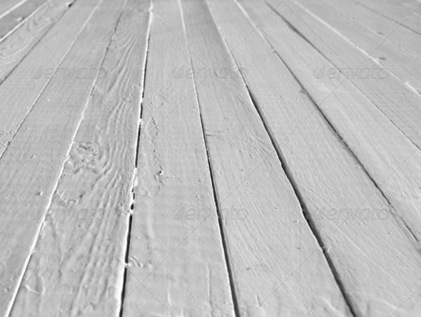White wooden floor - Stock Photo - Images