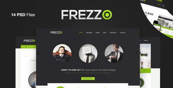Frezzo - Clean & Multi Purpose PSD Template - Corporate PSD Templates