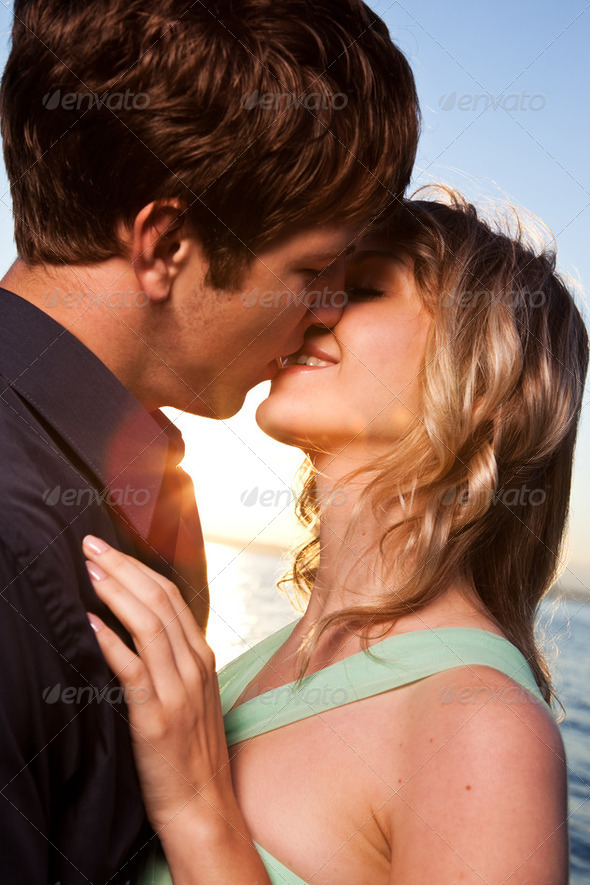Romantic couple in love - Stock Photo - Images