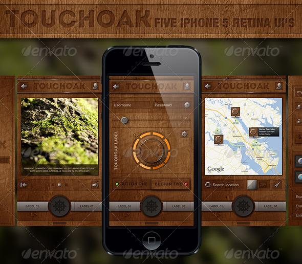 GraphicRiver Touchoak Retina User Interface 3247645