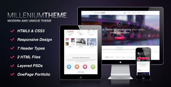 Millenium - Responsive Onepage Portfolio - Portfolio Creative