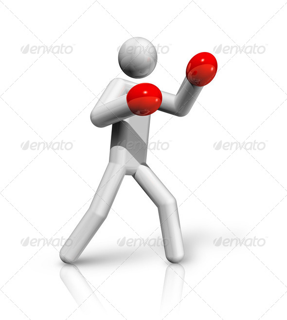 Boxing 3D symbol - Stock Photo - Images