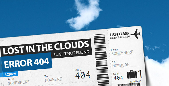 ThemeForest Lost in the Clouds Error 404 336121