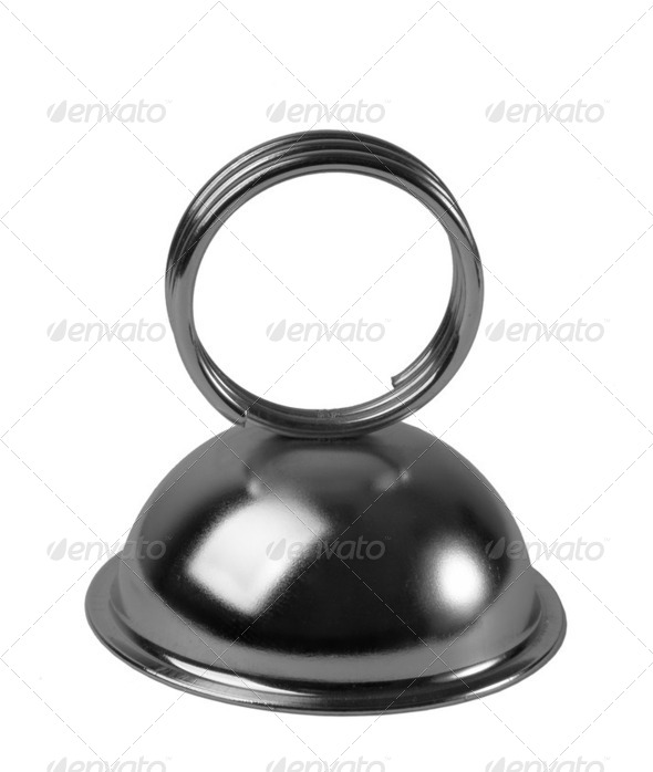 Metallic Memo Holder. Isolated on white. XXL. - Stock Photo - Images