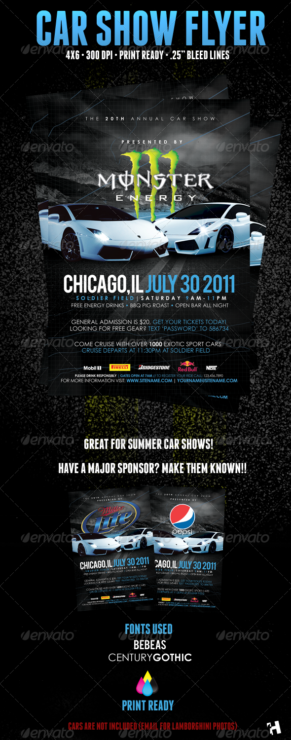 GraphicRiver Car Show Flyer Template 336254