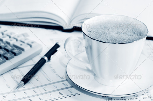 Coffee And Accounting - Stock Photo - Images