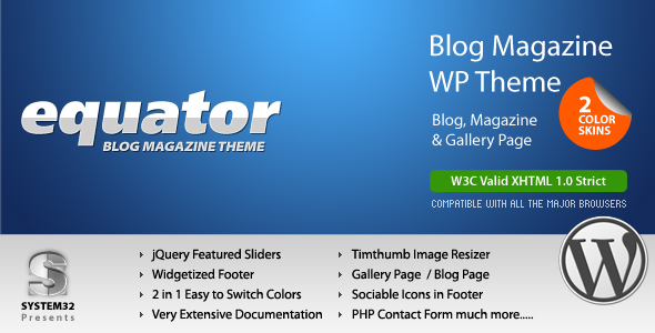 eQuator - Global Community Wordpress Theme