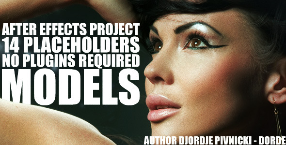 [VideoHive 336297] Models | After Effects Project