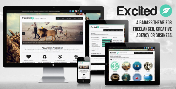 ThemeForest Excited Responsive Wordpress theme 3146866