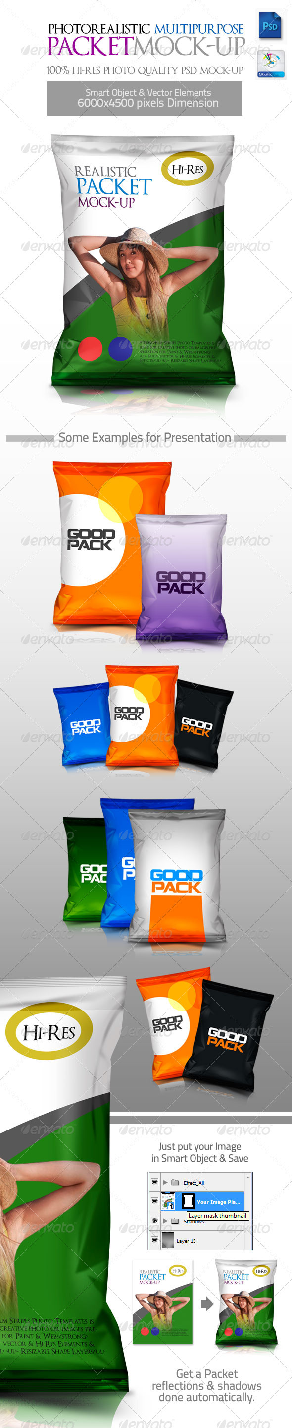 GraphicRiver Photorealistic Multipurpose Packet Mock-up 3250092