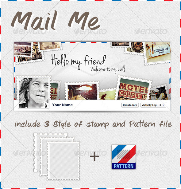 GraphicRiver Mail Me FB Timeline 3250874