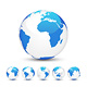 3D Earth Globe: White &amp;amp; Blue - GraphicRiver Item for Sale