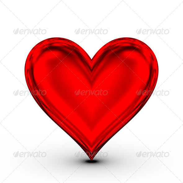 Red Heart! classical love symbol - Stock Photo - Images