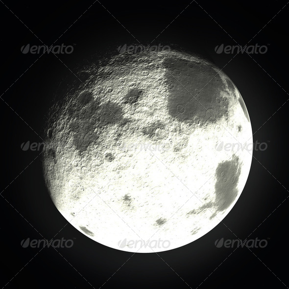 Bright Moon - Stock Photo - Images