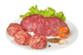 fresh raw meat on the plate - PhotoDune Item for Sale