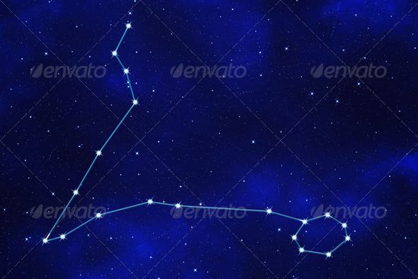 "Star-field background of zodiacal symbol ""Pisces"" - Stock Photo - Images"