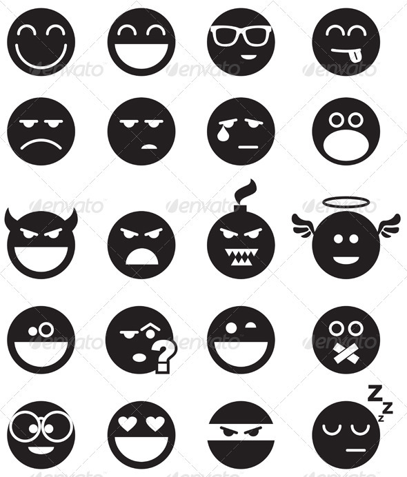 GraphicRiver Black Smiles 3251402